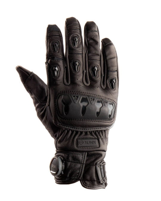 Orsa Leather MK2 CE Motorcycle Gloves - Black