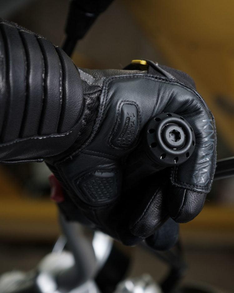 Knox Zero 3 MK II Winter Leather Motorcycle Gloves Black